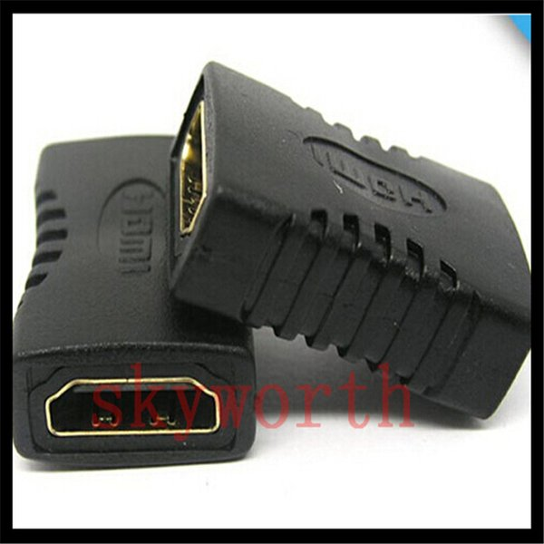 top popular HDMI to HDMI Female Adapter Black Coupler F F Extender Adapter Connector Joiner 1.4 1080p 2021