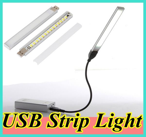 Éclairage de bureau 15 LED USB Portable Light Lamp pour voyager / Camping (câble USB et banque d'alimentation ne sont pas inclus)
