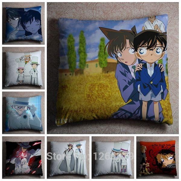 Hot Sale Detective Conan Printing Japan Anime Hugging Dakimakura Cover Square Pillow Case Peach Skin 45*45cm