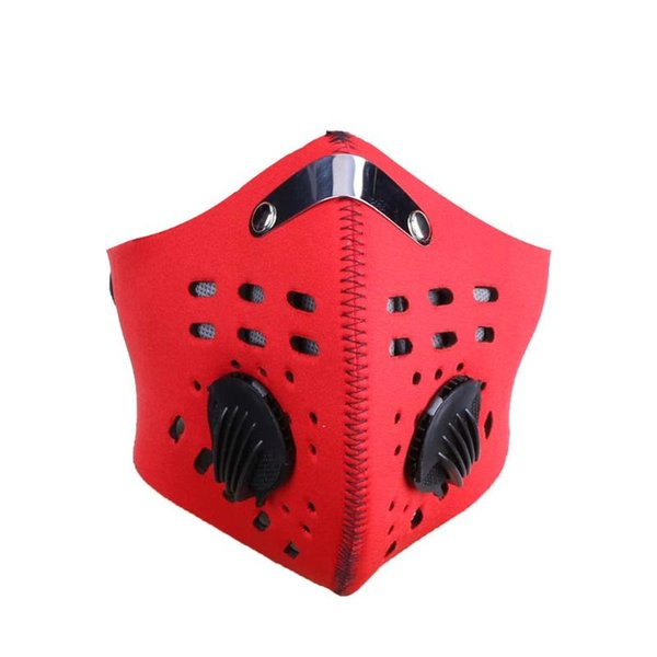 Al por mayor a prueba de viento máscara de ciclismo filtros de carbón polvo smog máscara protectora transpirable medio rostro máscara anticontaminación