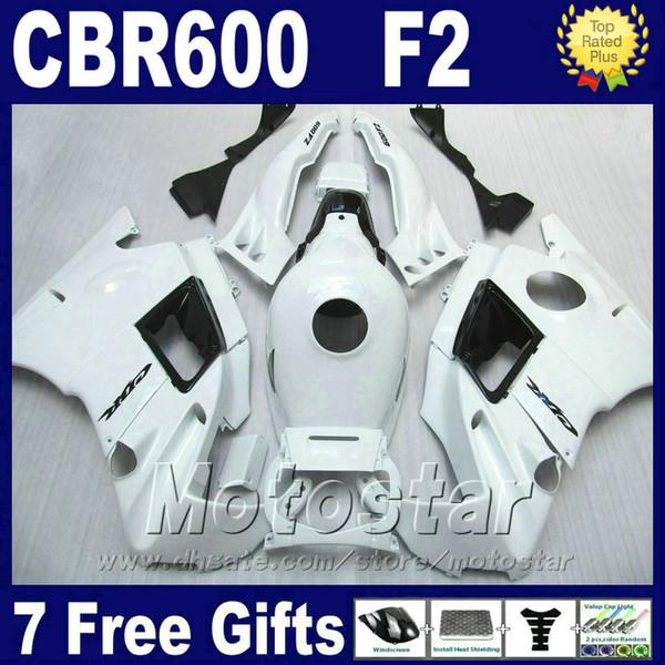 7Gifts customiz for HONDA CBR 600 F2 1991 - 1994 fairings kits white cbr600 f2 91 92 93 94 motobike fairings SGTG