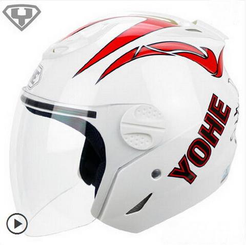2015 New YOHE Summer half face mororcycle helmet ABS motorbike helmet YH-601 have 9 kinds colors size M L XL XXL
