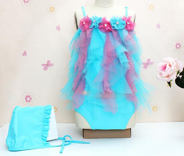 Girls swimwear cute flower swimming suit baby beach wear kid bathing suit infant swimsuit