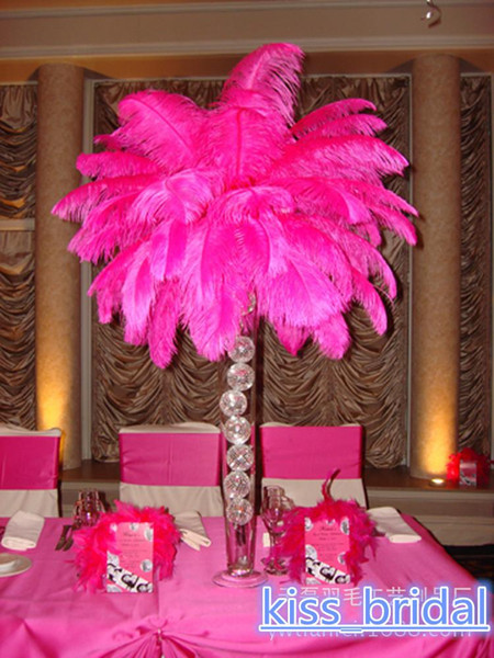 12 colours DIY Ostrich Feathers Plume Centerpiece for Wedding Party Table Decoration Wedding Decorations 2016 hot selling 30-35CM