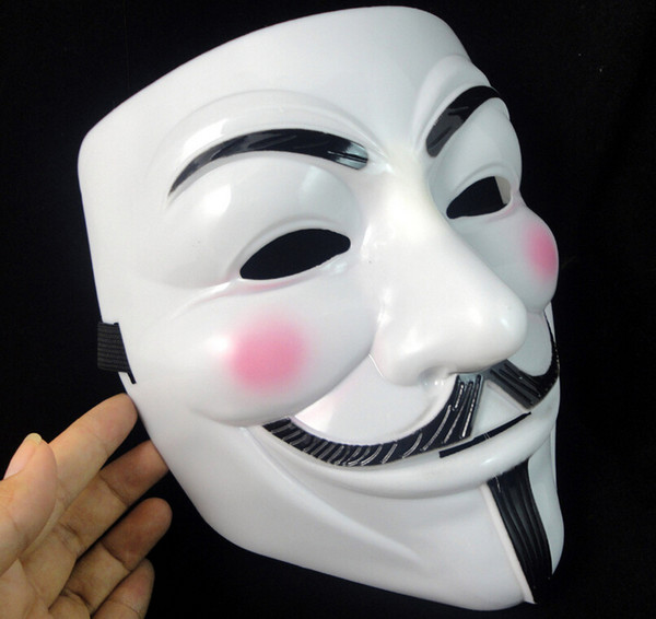V Maschera di Halloween Maschera Mascherata Maschere per Vendetta Anonimo Valentine Ball Party Full Face Super spaventoso Guy Fawkes