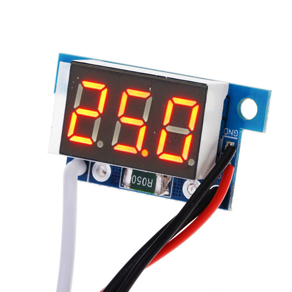 Al por mayor-Red Digital Display Current Module LED Panel Medidor Amperímetro Gauge DC0-999mA