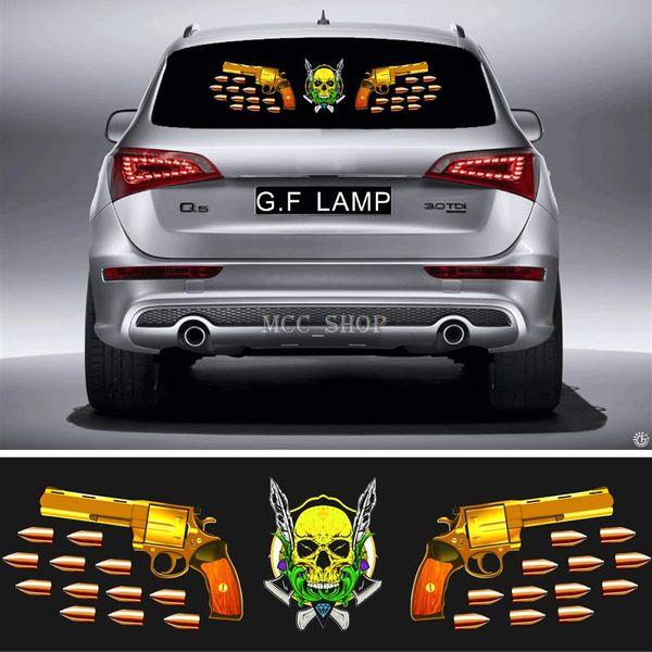 90 * 25cm Car Sticker Music Rhythm GF-ML-45 LED Flash Light Sound attivato equalizzatore