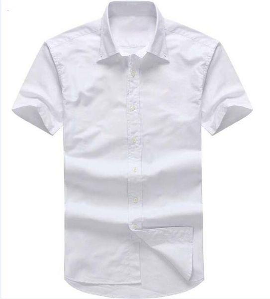 top popular Designer men's Summer Short sleeved Dress shirts 2018 men casual POLO small horse shirts fashion USA Brand RL Oxford social Solid shirt 2020