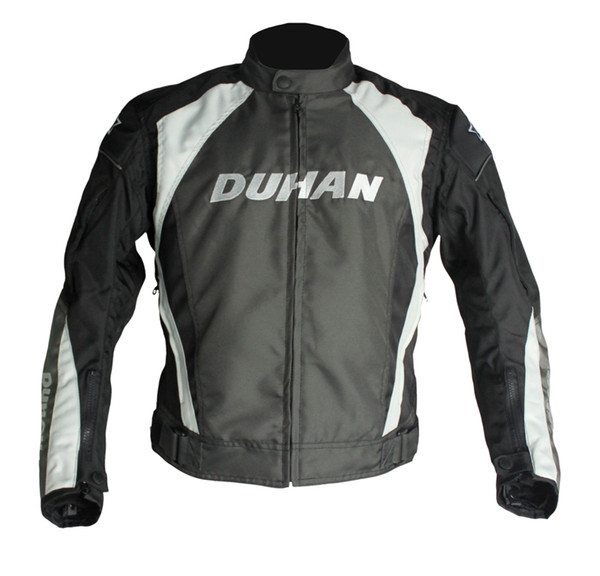 DUHAN Men's Motorcycle Windproof Riding Jaqueta Men's Motocross Off-Road Racing Sports Jacket Clothing with Protector Guards
