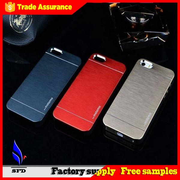 Ультратонкие Motomo Матовый алюминий Металл Жесткий задняя обложка чехол для Iphone 6 плюс 4 5 s4 5 6 S6 края плюс примечание 3 4 5