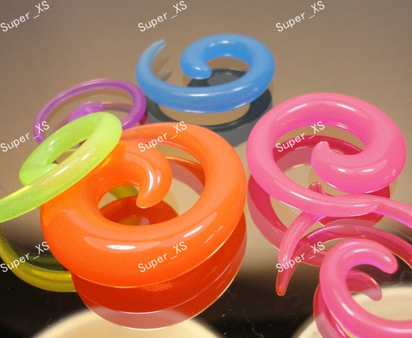 top popular Wholesale Jewelry Bulk Lots Wing Spiral Ear Expander Stretcher Plug Tunnels Body Piercing Jewelry LR457 Free Shipping 2021