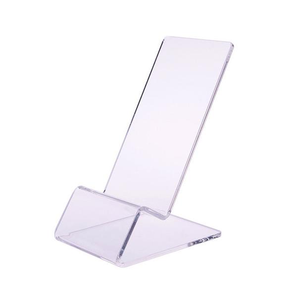 All'ingrosso-5X libera Mount Supporto acrilico del banco di mostra per il telefono cellulare 4 4G 4S 5 S C HTC # 50885