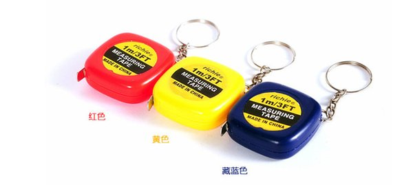 Small tape measure 1 meter portable mini soft tape measure ruler keychain pendant small gifts gift metric inch tape measure