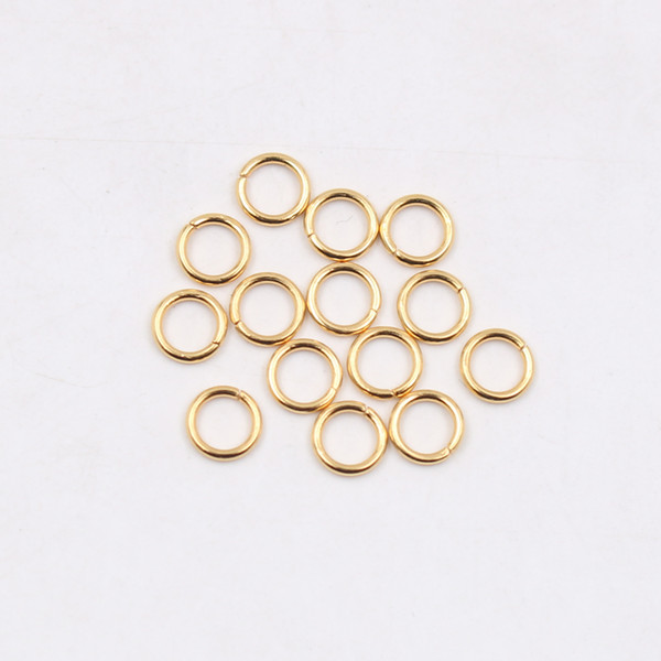 wholesale 200pcs Stainless steel Open Jump Ring Split Ring 5x1mm / 6*1mm / 7*1mm / 8*1mm Jewelry Finding Silver Polished fashion DIY Gold