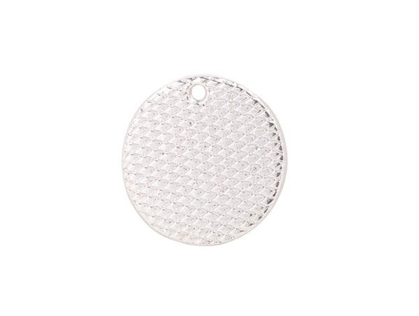 10 PCS Fashion Silver Plate metal 18mm Smooth Round Charm for Logo Print for sale #92259