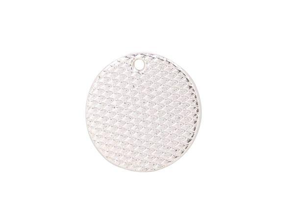 10 charme de forme ronde lisse en métal 18mm de plaque d'argent de mode de PCS pour la copie de logo à vendre # 92259