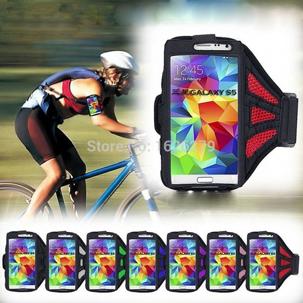 """Wholesale-Running sport gym equipment Mesh Armband Bag for iPhone 6 PLUS LG G3 D855 5.5"""" Jogging Arm Band arm cell phone holder"""