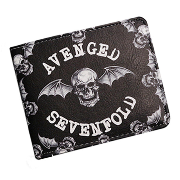 2018 Men and Women Fashion New Black Skeleton Bat 3D Printing Casual Personalized Wallet Christmas Gifts