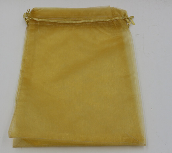 best selling Hot ! Gold 7x9cm 9X11cm 13X18cm 20x30cm Organza Jewelry Gift Pouch Bags For Wedding favors,beads,jewelry (ab652)