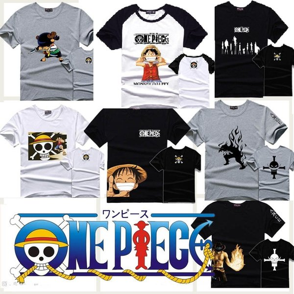 En gros-One Piece T-shirt coton luffy anime manches courtes hommes t shirts tops t-shirt tee
