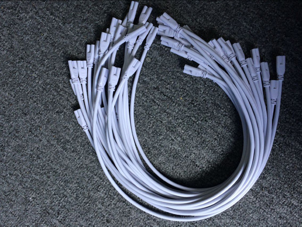 más barato 1ft 2ft 3ft 5ft Cable de extensión T5 T8 Cable de conexión Cable para cable integrado LED Tubo fluorescente 50pcs Envío gratuito de DHL