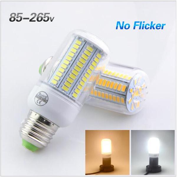 La migliore vendita 5736 Chip E27 No Flicker HA CONDOTTO LA Lampada 85-265V Corn Light Lampada LED 110V 127V 220V 5W 7W 99/108 LED Lampadina per l'illuminazione a sospensione