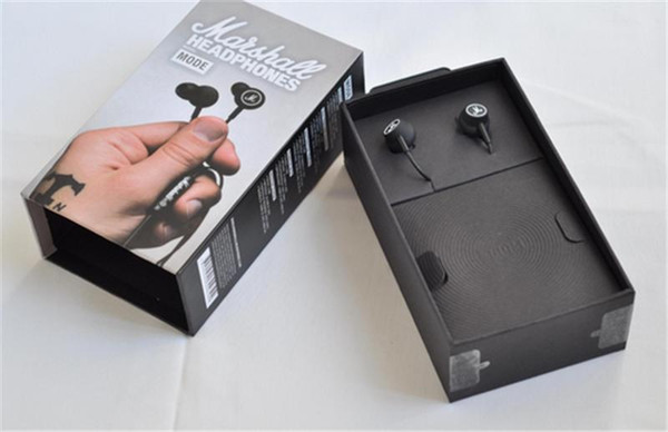 MOQ10PCS Marshall MODE auriculares en auriculares de oído negro auriculares con micrófono HiFi auriculares auriculares con caja de venta sonido perfecto libre de DHL