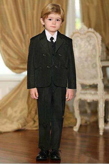Moda 3 Parça Tasarımcı Katı Yakışıklı Siyah Satışa Boys Için Takım Elbise Resmi çocuğun resmi elbise boys 'takım elbise erkek elbise boys suit