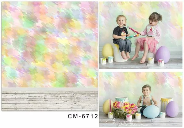 5X7ft Fantasy Color Painting Studio Backgrounds For Photos Muslin Computer Printed Digital Cloth Vinyl Backdrop Photography Background