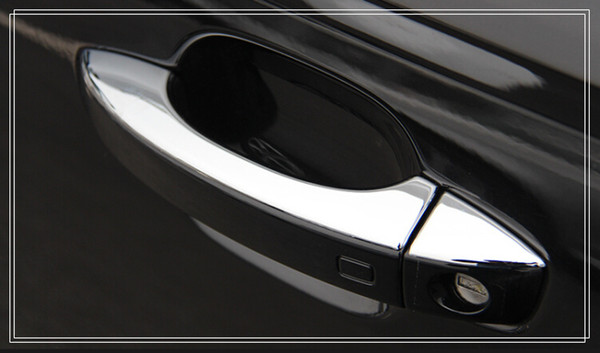 Free shipping! High quality ABS chrome door handle cover,door handle trim,protection sticker FOR AUDI A6L