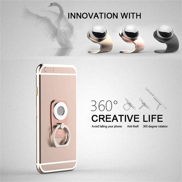 Magnetic metal ball 360°rotate cell phone ring holder car mount Holders Magnetic Holder 2 in 1 Car Mount Dashboard Mount Stand 10 pcs/lot