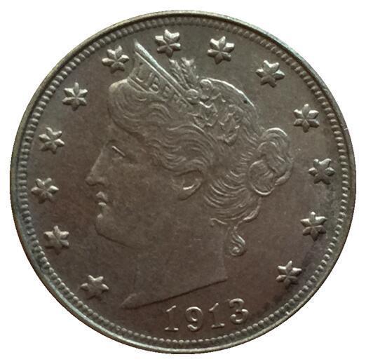 1913 Liberdade Cabeça V Níquel COIN COPY FRETE GRÁTIS