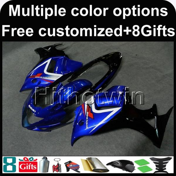 23colors + 8Gifts BLACK blue kit cupolino per moto per Suzuki GSX650F 2008-2010 08 09 10 GSX650F 2008 2009 2010 Carenatura in plastica ABS