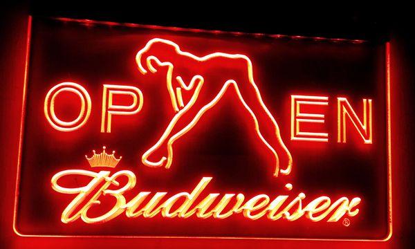 LS019-r Budweiser Exotic Dancer Stripper Bar Light Signs Décor Livraison gratuite Dropshipping En Gros 8 couleurs à choisir