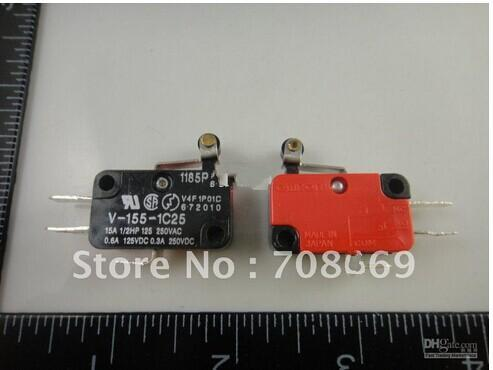 best selling 100pcs V-155-1C25 Momentary Limit Micro Switch SPDT Snap Action Switch