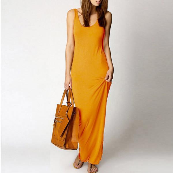 7 Colors Women Summer Dress 2015 Tank Ankle Length Long Maxi Bandage Dress Ladies Celebrity Party Casual Dresses Plus Size S-XXL