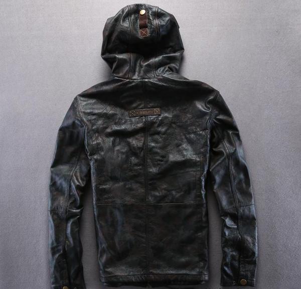 Großhandel Camouflage AVIREXFLY Lederjacke Mit Kapuze Motorradjacke 100% Echtes Leder Slim Fit Jacke Von Qltrade_2, $274.12 Auf De.Dhgate.Com | Dhgate