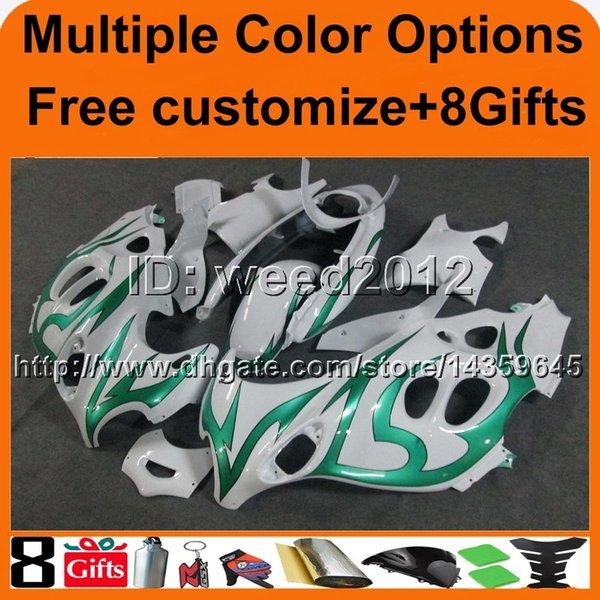 23 colores + 8 Regalos GREEN FLAME GSX600F 1998 1999 2000 GSX750F 01 03 04 05 06 carenado de motocicletas para Suzuki GSX600 750F Katana ABS Fairing