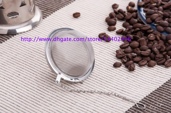 top popular DHL FEDEX Best Price 200pcs lot Stainless Steel Tea Pot Infuser Sphere Mesh Strainer Ball 5.5cm Free shipping 2019