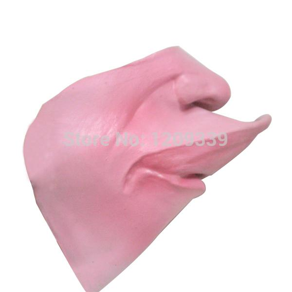 Approvisionnement en gros-déguisement Stag Party Masque Prop Drôle Cheval visage en caoutchouc Masque Demi Visage Fat Lip Mask