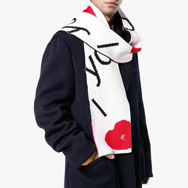 d404f21c611cf5 Raf Simons I Love You Wool Scarf Couple Scarves Men Women Collar Fashion  Wraps 205*
