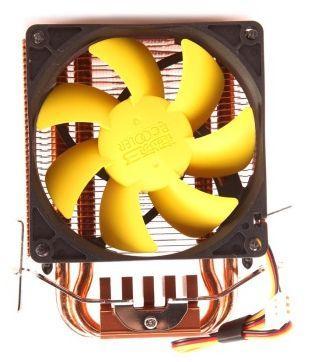 PCCOOLER 1pcs 8cm fan 2 heatpipes CPU cooler Yellow Sea mini (HUANGHAI mini) S83 for LGA1155/1156/775/AM3/AM2