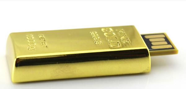 2016 China Real Gold Bar 8GB USB Flash Drive In Metal PenDrive