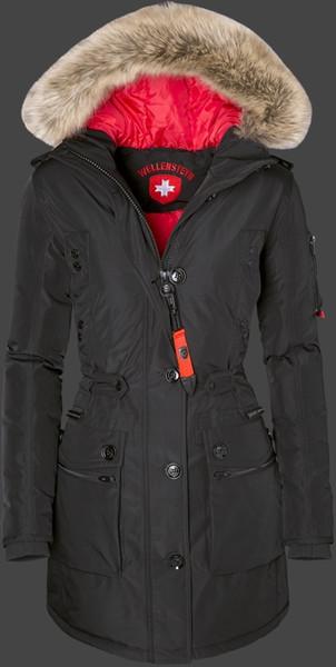 2019 Women Down Jackets With Fur Hood Wellensteyn Damen Queens TiSaAirTec Schwarz Polyester Jacken Lady'S Down Parkas From Cheapsneakers, $215.68  