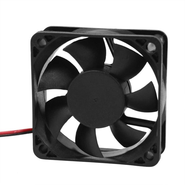 Wholesale- DC 12V 2Pins Cooling Fan 60mm x 15mm for PC Computer Case CPU Cooler-CAA