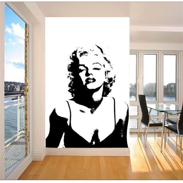 Classic Marilyn Monroe Photo Wallpaper Custom Elegant Large Wall Mural  Canvas Silk POP Art Wall Painting Room Decor Sofa Background Wall Kitchen  ...