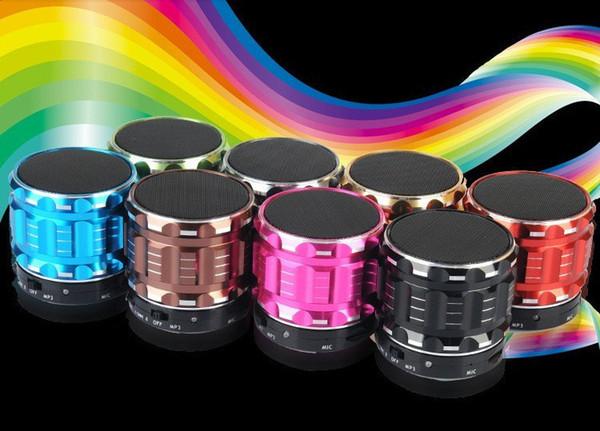 top popular Mini Bluetooth Speaker S28 Metal Steel Wireless Smart Hands Hi fi speaker With FM Radio Support SD Card Colors Mixed US010 2019