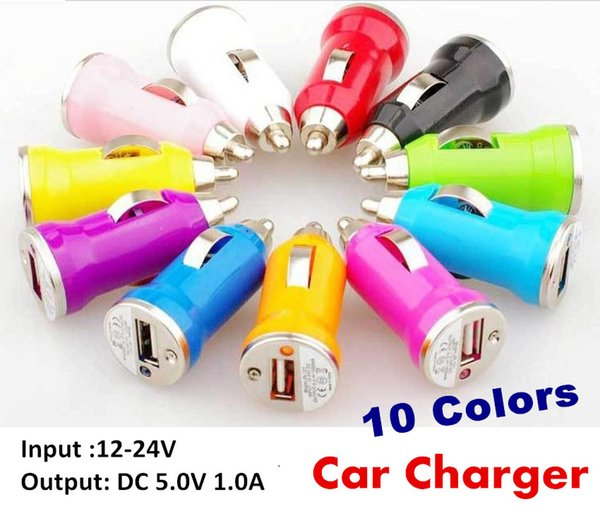 2000PCS Mini USB Car Charger USB Charger Universal Adapter for iphone 5 4 4S 6 Cell Phone PDA MP3 MP4 player mobile i9500 s3 m7 JE9