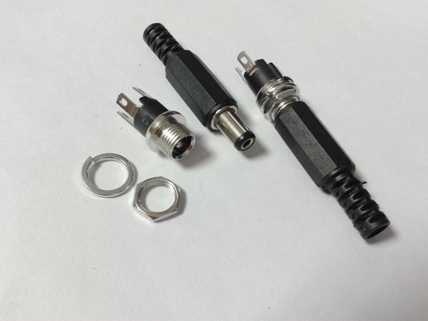 8set 5.5mm x 2.1mm DC Power (prise femelle + fiche mâle) Connecteur de montage sur panneau