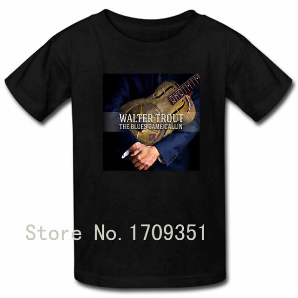 T-shirts The Blues Came Callin Walter Trout Print Men Casual Cotton Short T Shirt Free Shipping